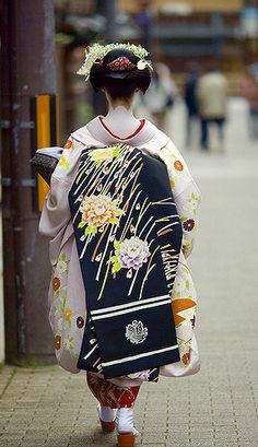 Maiko Kosen 小扇 from Gionkobu  View On Black