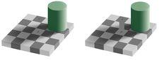 Schachbrett-Schatten optische Täuschung