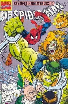 Spider-Man #19 February 1992 https://www.facebook.com/pages/The-Nerd-Rave/113442648801172 #thenerdrave #marvel #comics #spiderman #revenge #sinistersix #hobgoblin #hulk #doctoroctopus #vulture #electro