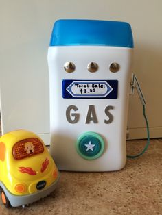 Diy gas pump-made from recycled baby cereal container