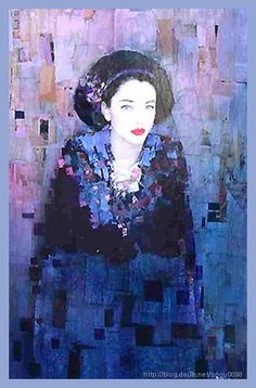Richard Burlet (France, B.1957) Reve Orange Illusion CHacone Poison * * L\'inconnue Le Temoin * Sereine Petrus Portrait Ital