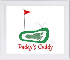 Great gift for Erin and Mike! ~ Footprint Art Forever Prints. Father's Day golf by MyForeverPrints, $25.00 etsy
