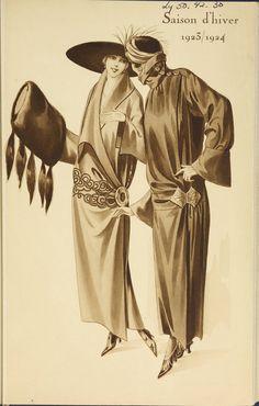 Saison d'hiver, 1923/1924. 1923. Metropolitan Museum of Art  (New York, N.Y.).  Thomas J. Watson Library. Trade Catalogs.  #happygirlsaretheprettiest #bonding | Making memories with a friend.