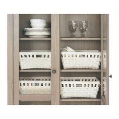 KNARRA Korb - weiß, 38x29x16 cm - IKEA