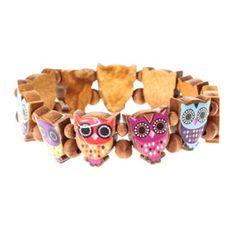 Owl Tile Wooden Bracelet