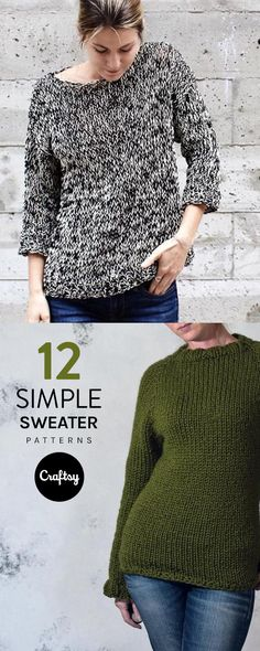 Ease yourself into sweater knitting with one of these 12 beginner patterns.