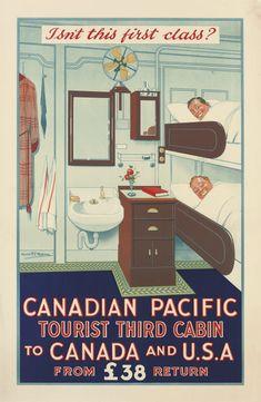 "Canada Pictoral Map circa 1932-24/"" x 32/"" Large Art Print Poster Quebec City"