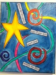 8x10 and smaller pieces - OsborneOriginals. Funky watercolor with saying