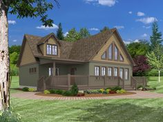 <p>The Cedarville is perfect for a lot with a view. With its trapezoid window, dormer and wrap around deck, you have plenty of places to see the view. When you first walk into the great room you be struck by the open and airiness of this plan. This plan has 3 bedrooms and 2 baths but by finishing the suggested second floor you can get an third bath and a loft/sitting area that overlooks the down stair great room.</p>
