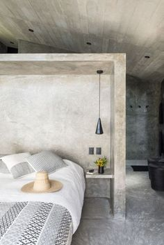 A Commanding Mexican Home Of Stone And Concrete Is For Sale   Photo 5 Of 10    The Bedroom Is A Good Example Of The Minimal Interiors Featured  Throughout.