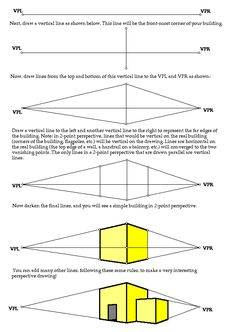 """Two-Point Perspective... this year, i may hand this to my 4th graders and say, """"Figure it out!"""""""