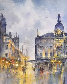 check out 👉🏼 ❤️ ⠀⠀⠀⠀⠀⠀⠀⠀ ⠀⠀⠀⠀⠀⠀⠀⠀ ⠀⠀⠀⠀⠀⠀⠀⠀ artist — Watercolor Artwork, Watercolor Artists, Watercolor Paper, Amsterdam Art, Berlin Art, Watercolor Architecture, Urban Sketching, Landscape Paintings, Around The Worlds
