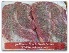 beef steak recipe This chuck steak recipe is superb affordable. If you have a big family, this is the steak dinner you want to serve over and over again. Chuck Shoulder Steak Recipe, Beef Shoulder Steak, Chuck Eye Steak Recipe, Chuck Steak Recipes, Chuck Steak Marinade, Steak Braten, Beef Chuck Steaks, Roast Steak, Indian Curry