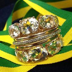 GO BRAZIL!!! #brumani #brazil #worldcup2014 #jewelry #ring #quartz #diamonds #musthave #chic #fashion #instajewel #instafashion #luxury #trend #brasil #fresh #colors #rumoaohexa #vaibrasil #gobrazil