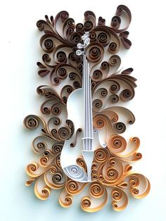 Fiddle pen art by Quillona - Quilling Paper Crafts Paper Quilling Flowers, Paper Quilling Cards, Quilling Work, Paper Quilling Patterns, Quilled Paper Art, Quilling Paper Craft, Quilling Ideas, Paper Crafts, Paper Quilling For Beginners