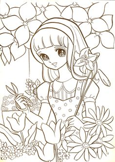1903 Best Anime Asian Art Manga Coloring Pages Images Coloring