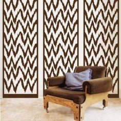 ShaNickers Ikat Panel Floor and Wall Decal/ Wall Sticker