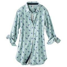Gilligan Omalleyreg Womens Flannel Print Sleep Shirt Assorted