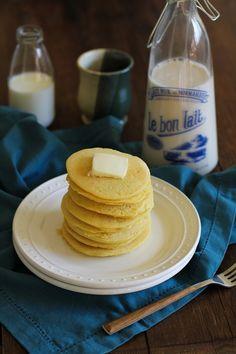 Buttermilk Cornbread Pancakes (gluten free) | www.theroastedroot.net