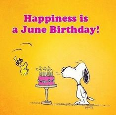 Snoopy • Happiness is a June Birthday