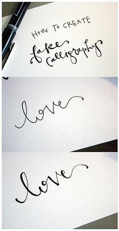 Creating Calligraphy on the @FineStationery Blog