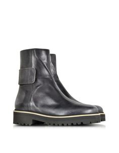 MM6 Maison Martin Margiela Black Distressed Leather Boot - LOVE