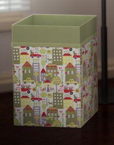 Custom Baby Toys or Clothes Hamper - Laundry Basket - City Scene - Organic Cotton - Nursery Accessory