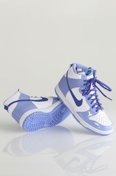 Nike Dunk High GS kengät White/Iced Lavender-Light Thistle 59,90 € www.dropinmarket.com
