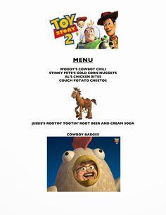 Movie Night For Kids, Dinner And A Movie, Family Movie Night, Disney Themed Food, Disney Food, Disney Family Movies, Birthday Party Menu, Friday Movie, Disney Dinner