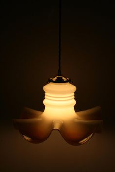 Just Custom Lighting - Listings View Petticoat Style Milk Glass Hanging Pendant Light.