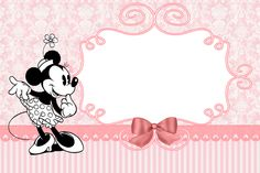 Minnie Vintage: Free Printable Invitations and Candy Bar Labels.
