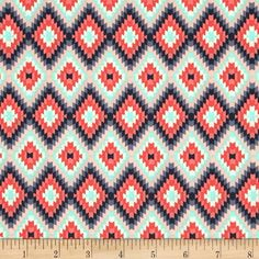 Art Gallery Recollection Kilim Inherit Sunlit from @fabricdotcom Designed by Katarina Roccella for Art Gallery Fabrics, this cotton print is perfect for quilting, apparel and home decor accents. Colors include coral, slate navy, charcoal, blush and mint. Art Gallery Fabric features 200 thread count of finely woven cotton.