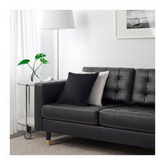 LANDSKRONA 2-zitsbank en chaise longue - Grann/Bomstad zwart, hout - IKEA