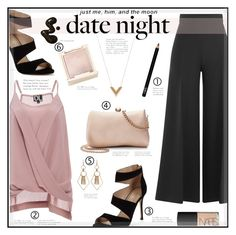 """Date Night Style"" by suzanne228 ❤ liked on Polyvore featuring Valentino, DailyLook, Carvela, LC Lauren Conrad, Louis Vuitton, NARS Cosmetics, Jouer and DateNight"