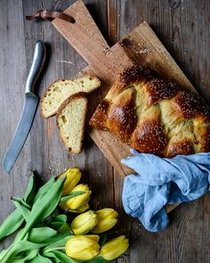 Tsoureki - Greek Braided Easter Bread with Aniseed and Orange Blossom Water! Happy Spring  New recipe on eatinmykitchen.meikepeters.com. by eatinmykitchen