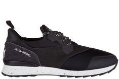 HOGAN REBEL MEN'S SHOES LEATHER TRAINERS SNEAKERS R261 ALLACCIATO. #hoganrebel #shoes #