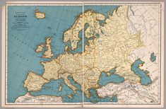 Aesthetically Pleasing Map Of Europe Made By Rand McNally In 1939 Within Of - besttabletfor. Vintage Maps, Antique Maps, Europe Map Printable, Old World Maps, Voyage Europe, Map Design, Historical Maps, Altered Art, Trip Planning