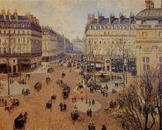 프랑스 극장 앞 광장, 겨울 오후 햇살(Place du Theatre Francais, Afternoon Sun in Winter) - 카미유 피사로(Camille Pissarro)