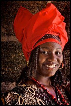 Dame uit Suriname - foto gemaakt in Paramaribo, Suriname