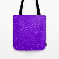 Speckles II: Purple Tote Bag #speckles #pattern #surface #purple #Photoshop #royal #regal #bright #shop #Society6 #product #spotty #splatter #mess #fun