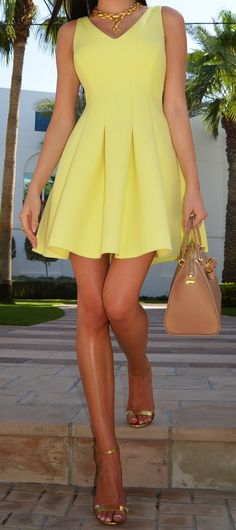 River Island Yellow Dress...totally wish I could pull off yellow
