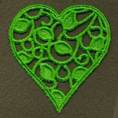 FSL Filigree Heart 2 - 4x4 | FSL - Freestanding Lace | Machine Embroidery Designs | SWAKembroidery.com Ace Points Embroidery