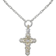 Gold & Sterling Silver pendant with diamond Diamond Pendant, Diamond Jewelry, Diamond Necklaces, Necklace Online, Luxury Jewelry, Sterling Silver Pendants, Women Jewelry, Pendant Necklace, Jewels