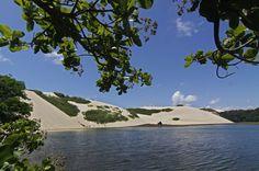 Vista da Lagoa de Genibapu, no Rio Grande do Norte