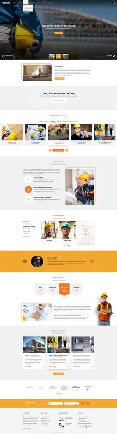 Brick - Multi Concept PSD Template • Download ➝…