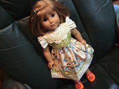 American Girl, Waldorf doll clothes, See You in the Funny Papers by judysdollboutique on Etsy