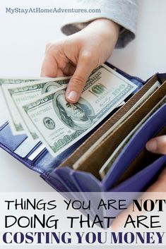 There are things you are not doing that are costing you money, lots of money! Read what you are doing that is costing you money.