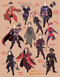Avengers Ancient Chinese AU