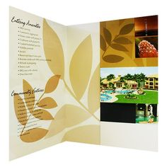 Luxury Presentation Folders for Enclave Apartments (Inside View)