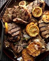 Grilled Lamb Chops with Roasted Garlic  | G-Free Foodie #GlutenFree